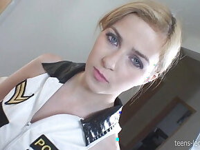 Abigaile Policewoman Footjob